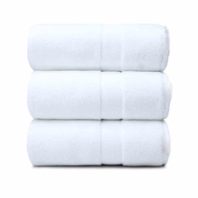 Egyptian cotton white hotel bath towel set