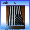 3x5 Foot Polyester Black and White American Flag