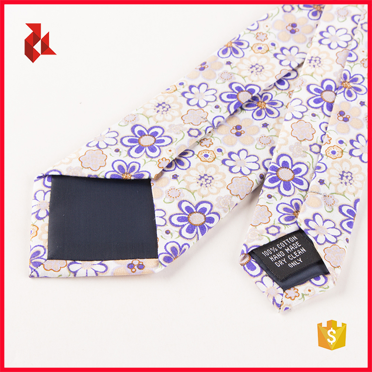 Fashion Cheap Mens Fancy Floral Cotton Printed Ties