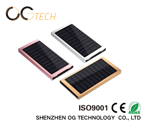 Slim Portable Solar Charger cell power bank Mini Solar Powerbank