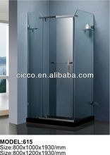 Square tempered glass prefabricated square tempered glass italian sanitary ware shower room C615