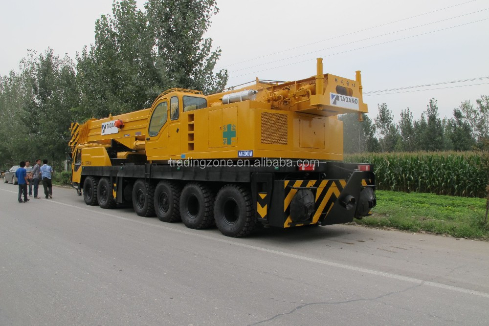 Used 200 ton hydraulic TADANO mobile crane, TADANO TG2000M truck crane for sale, original from Japan