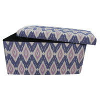 Space Saving Leather Storage Stool Ottoman