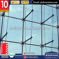 Top Quality Spider Curtain Wall/Steel Structure Curtain Wall For High Rise Building