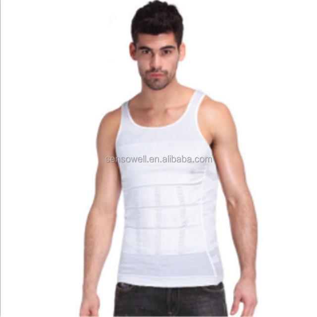 Hot Sale Men Belt Body Sculpting Abdomen Underwear Vest Shapers Waist Abdomen Slimming Beer Belly Weight Loss Shirt