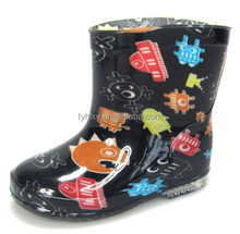 latest design pvc robot boys cheap cute kids rain boots