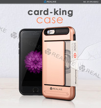 Free sample tpu+pc card king phone case for apple i phone 6s