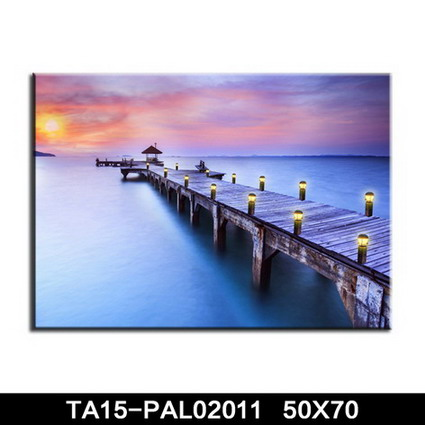 Canvas wall picture with led light made by different types fabric material manufacturer