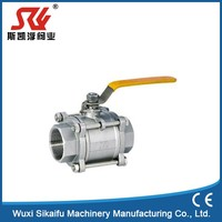 Superior quality 3 pc female ball valve of extend stem