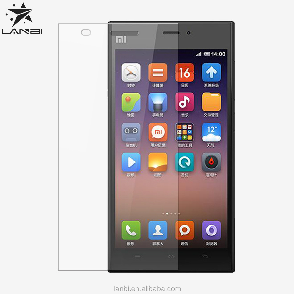 Hot sale! For Mi3 moblie phone Explosion proof Tempered Glass For Xiaomi 3 Japan glue Premium Screen Anti Shatter Protector Film