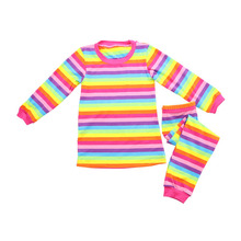 2017 children pajamas pictures of latest gowns designs rainbow colorful outfit
