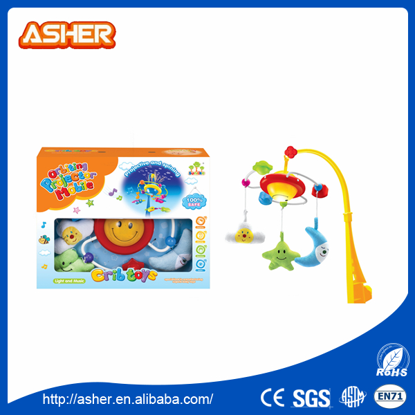 light cartoon cot mobile music baby toys for sale