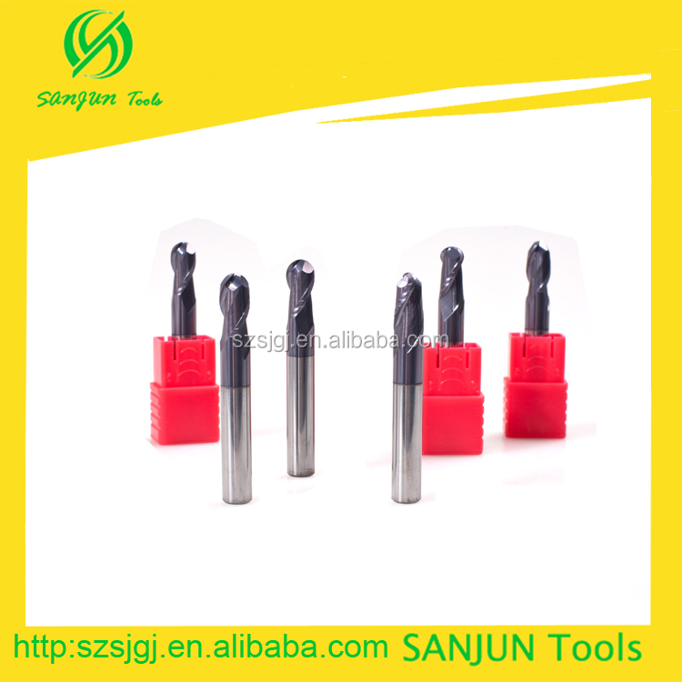 R5-60L*HRC55tungsten solid carbide ball nose end milling tools/face steel bolt end milling end mill cutter sizes