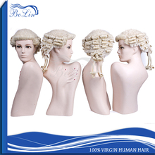 Wholesale Factory Price Synthetic Wig Good Quality 100 Horse Hair Lawyer Wig Gray White Hair Barrister Wig