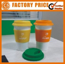 2015 Wholesale Custom Sublimation Ceramic Coffee Mug With Silicone Lid