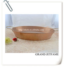 homeware metal color unique metal trough flower tray