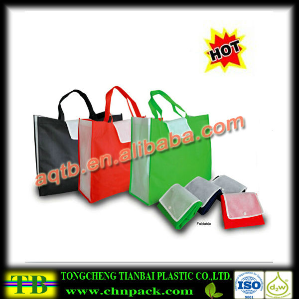 foldable non woven shopping bag with handle for promotion