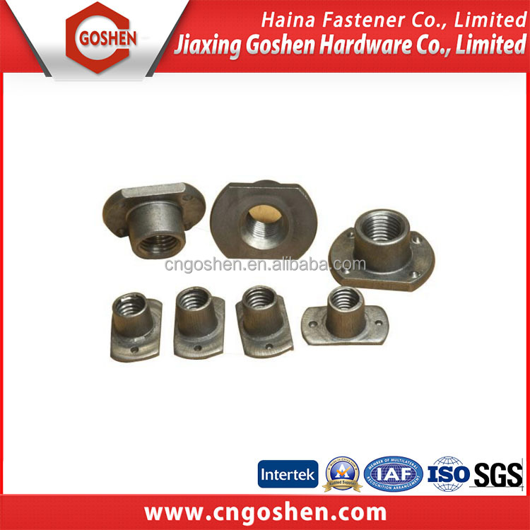 Carbon steel Plain T type Square Weld nut