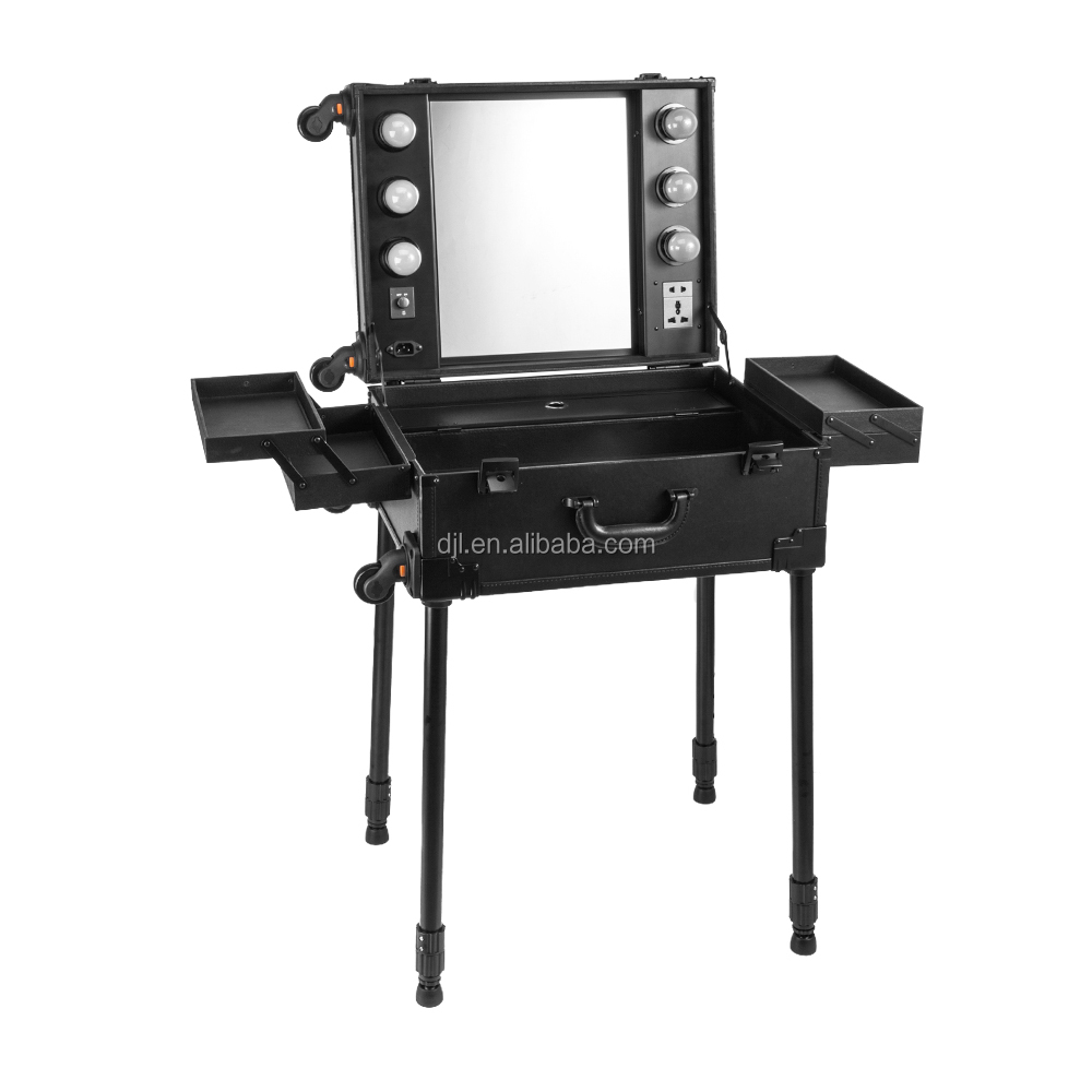 Sunrise MOQ 1pc Cheap professional makeup station with lights and mirror wholesale