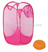 easy open Portable type Folding Storage Laundry Hamper Clothes Basket wire basket storage clothes