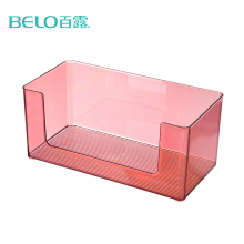 BELO Household Simple Design Cosmetics Organizer Transparent Clear Acrylic Makeup Storage Box