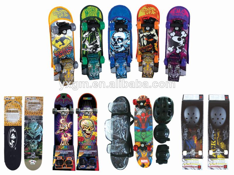 "31""x8"" chinese maple flat skateboard with various design"