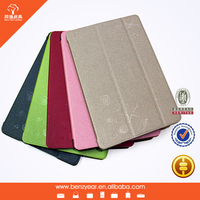 bulk wholesale real leather tablet folding case with PC shell for ipad