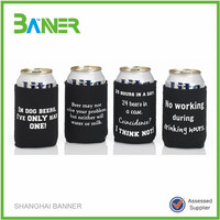 Cheapest logo printed Promotional neoprene slap wrap can cooler