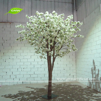 GNW BLS1507006 Unique artificial topiary white color blossom tree using wedding decoration Newly released products