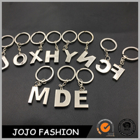 Make Your Own Logo Alphabet Letter Design Customized Floating Key Metal Chain