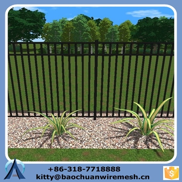Removable temporary swimming pool fence, beautiful wrought iron swimming pool fence for sale