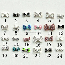 2015 latest 3D charming metal bow for nail art exclusive use