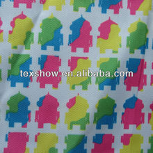 600D printed polyester oxford fabric with PU coating