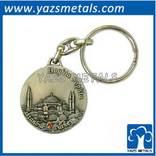 custom keychain, custom 3D places of interest metal keychain