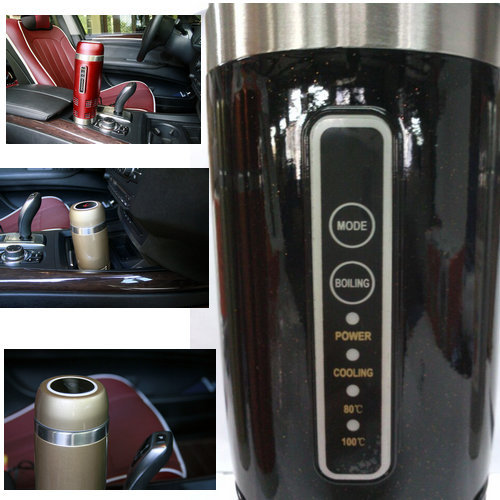 12v car ECO friendly electric Travel cup/mug self freeze Heated and Cooled functions
