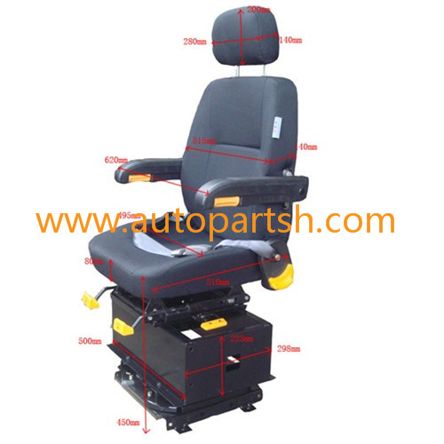heavy duty truck driver seat with or without adjustor