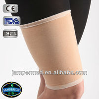 multidirectional elastic material, high grade spandex fiber combined with stretch nylon fiber, elastic thigh brace
