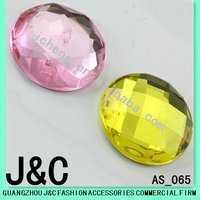 garment accessories crystal round shape acrylic stone