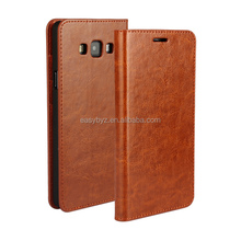 Crazy Horse Texture Flip Stand Genuine Leather Wallet Case Cover for Samsung Galaxy A7 Leather Case