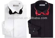 men's noble fashion fitted dress shirt/wholesale mens whiteand black dress shirts
