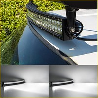 50 inch 288W 4x4 Cree Led Car Light, Curved Led Light bar Off road,auto led light arch bent/ Car Accessories Wholesale