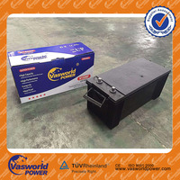 Free shipping auto spare parts 12v 150ah car battery for auto starting