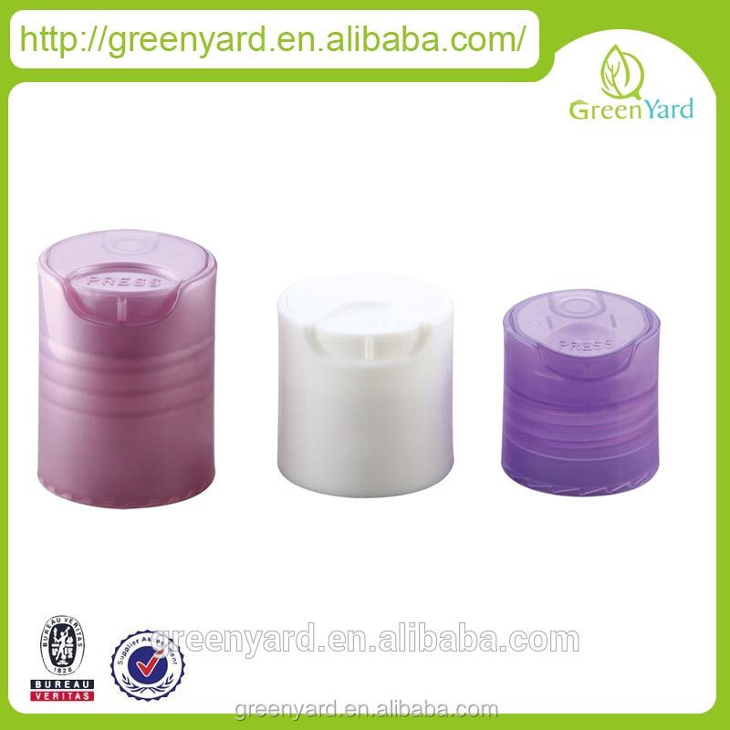 high quality silver color disc top cap, swing top cap for shampoo bottles, metal disc top cap