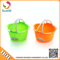Wholesale round plastic pail with folding