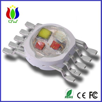 5 in 1 10w RGBWY high power led diode