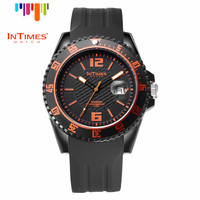 InTimes Speeder Big Casual Plastic Case Silicone Band Sports Watches Men 2016