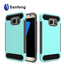 <strong>Fashion</strong> New Design For SAM S7 edge Case,High Quality 2 in 1 Carbon Fiber Phone Case for S7 Cover