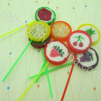 Fruit Shape Hand-made lollipop/Lollipop Candy/Candy Flower Lollipops