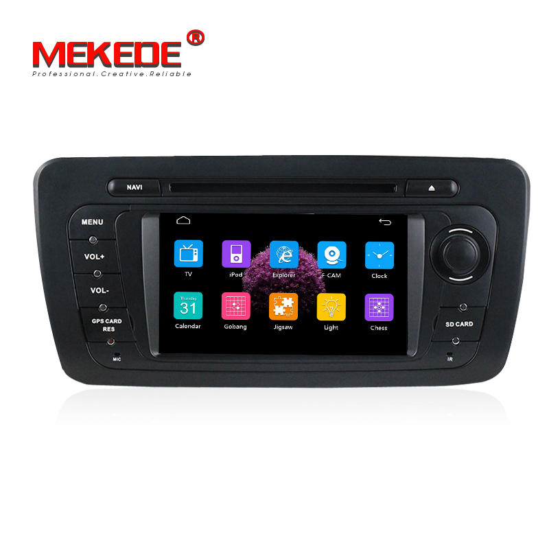 2din Car DVD GPS Navigation Player for SEAT IBIZA 2009- 2013 with Radio Bluetooth Can Bus SWC RDS