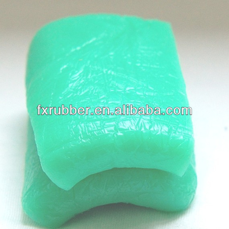 Green Silicone rubber compounds (vulcanizer needless)